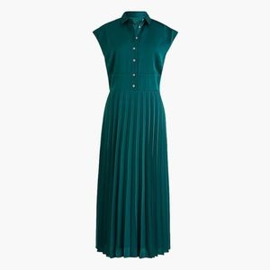 NWT J Crew Midi Shirtdress w/ Pleated Skirt Sz 4